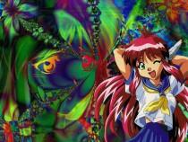 Аниме картинка All Purpose Cultural Cat Girl Nuku Nuku [TV]. Bannou Bunka Nekomusume [TV]. Универсальная современная девyшка-кошка [ТВ]