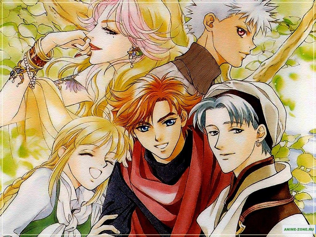 Аниме картинка Angelique: White Wing Memoirs. Angelique: Shiroi Tsubasa no Memoire. Аниме обои Анжелика: Белые Крылья Воспониманий( OVA -1)