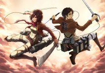 Аниме картинка Attack on Titan. Shingeki no Kyojin. Вторжение Гигантов