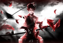 Аниме картинка Attack on Titan OVA. Shingeki no Kyojin OVA. Вторжение гигантов OVA